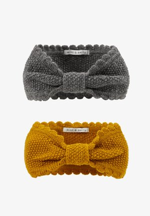 2 PACK - Ear warmers - dark grey/Yellow