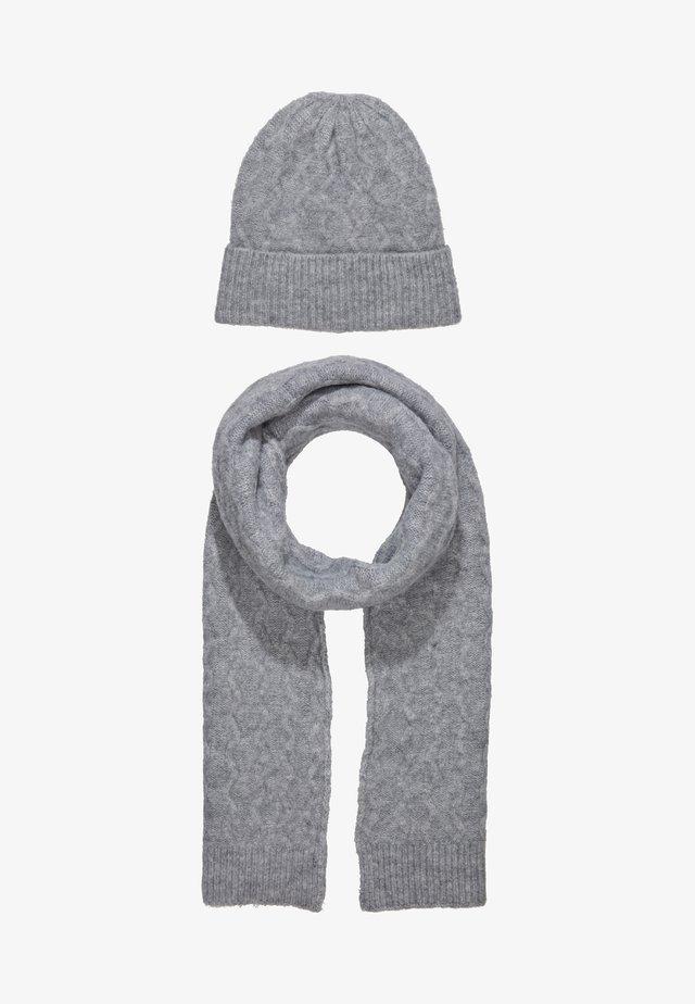 SET - Schal -  grey