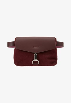 LEATHER - Bum bag - burgundy