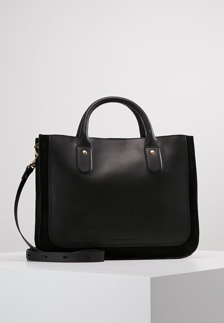 mint&berry - LEATHER - Handbag - black