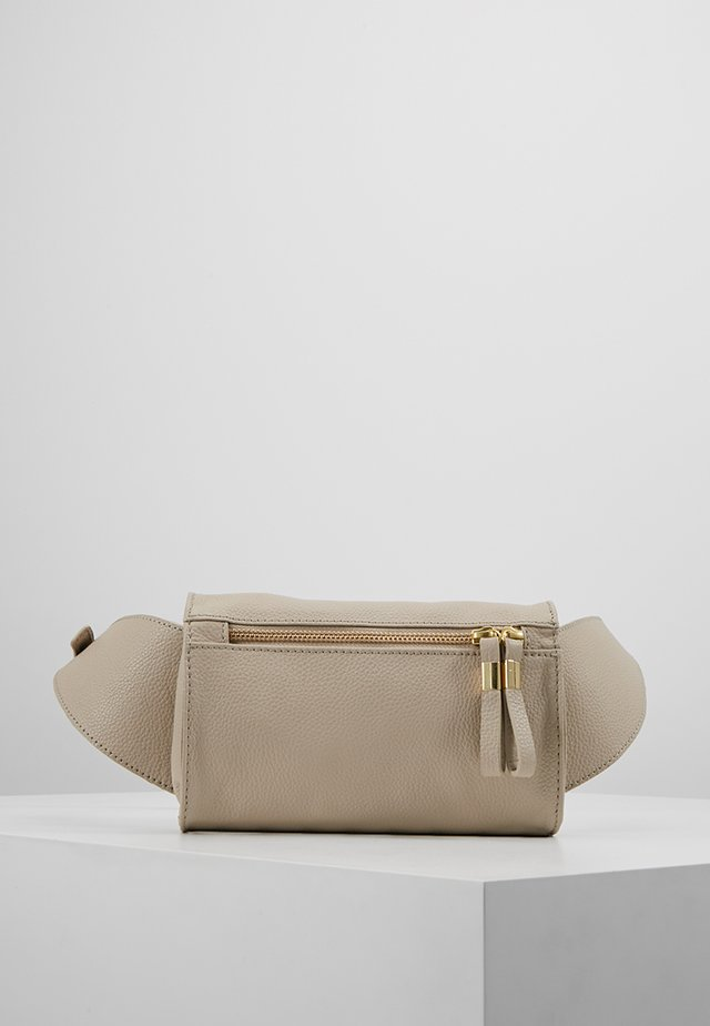 LEATHER - Bum bag - taupe