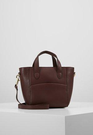 LEATHER - Handbag - burgundy