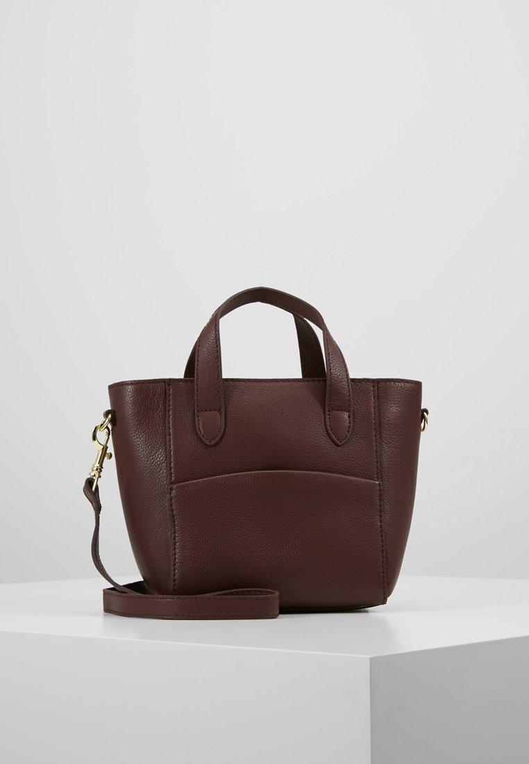 mint&berry - LEATHER - Handbag - burgundy