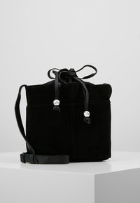 mint&berry - LEATHER - Across body bag - black - 0
