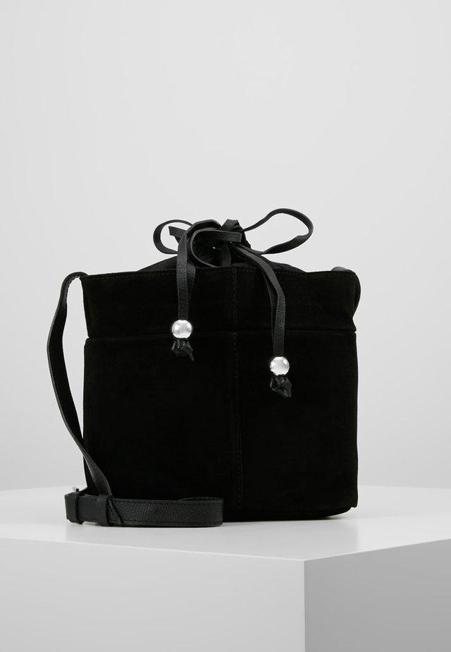LEATHER - Sac bandoulière - black