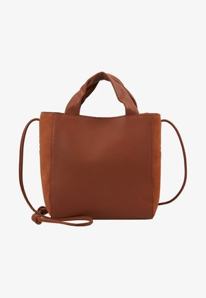 LEATHER - Bolso de mano - cognac