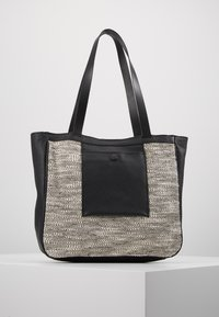 mint&berry - LEATHER - Tote bag - black - 0