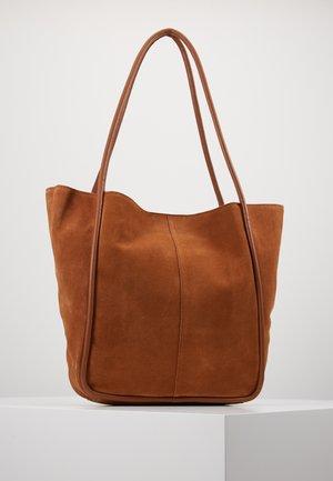 LEATHER - Tote bag - cognac