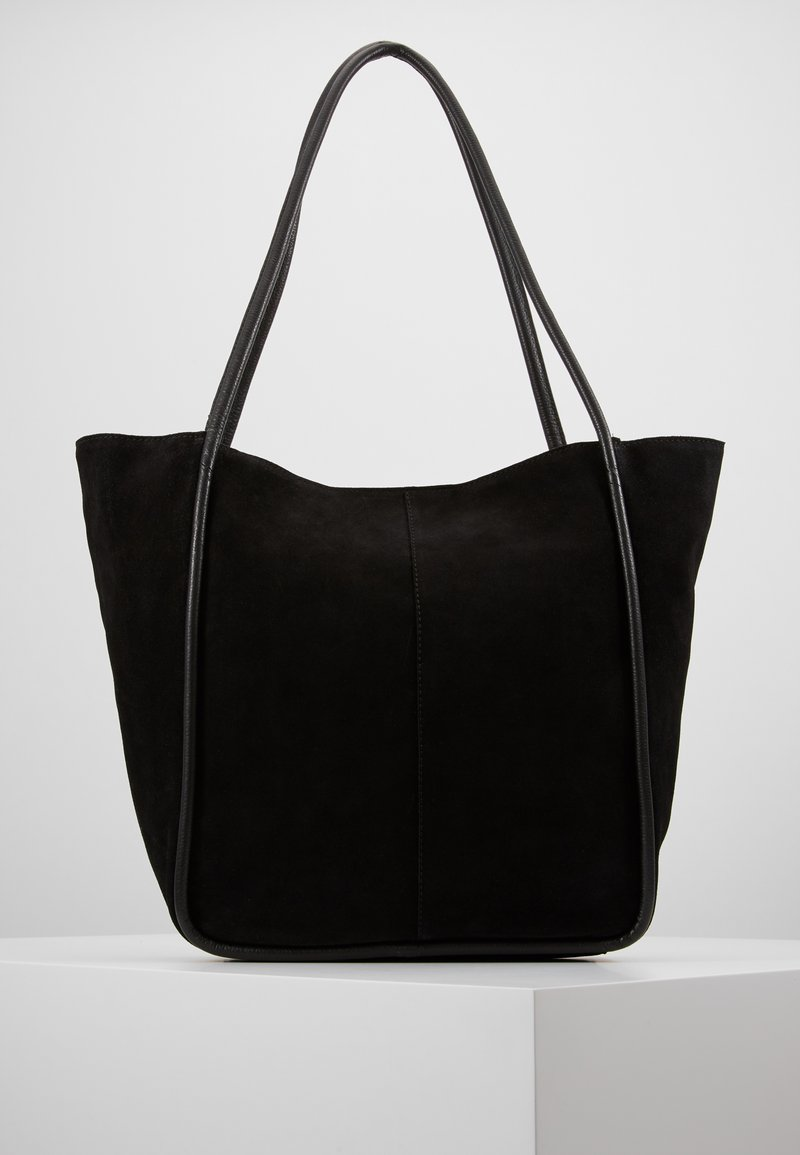 mint&berry - LEATHER - Tote bag - black