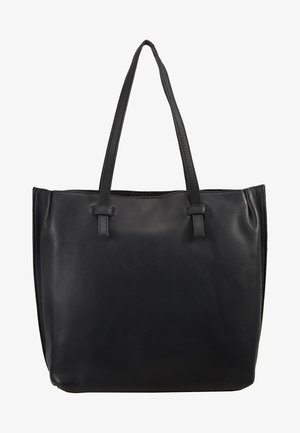LEATHER - Shopping bags - black