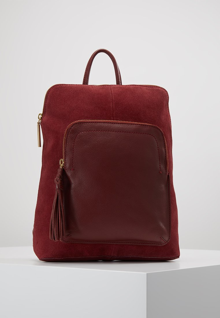 mint&berry - LEATHER - Rucksack - ruby red