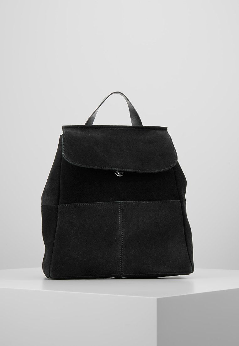 mint&berry - LEATHER - Rucksack - black