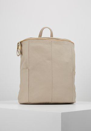 LEATHER - Rucksack - soft taupe