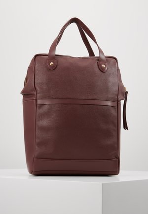LEATHER - Rucksack - burgundy