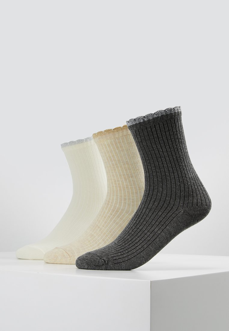 mint&berry - 3 PACK  - Socks - white/grey/nude