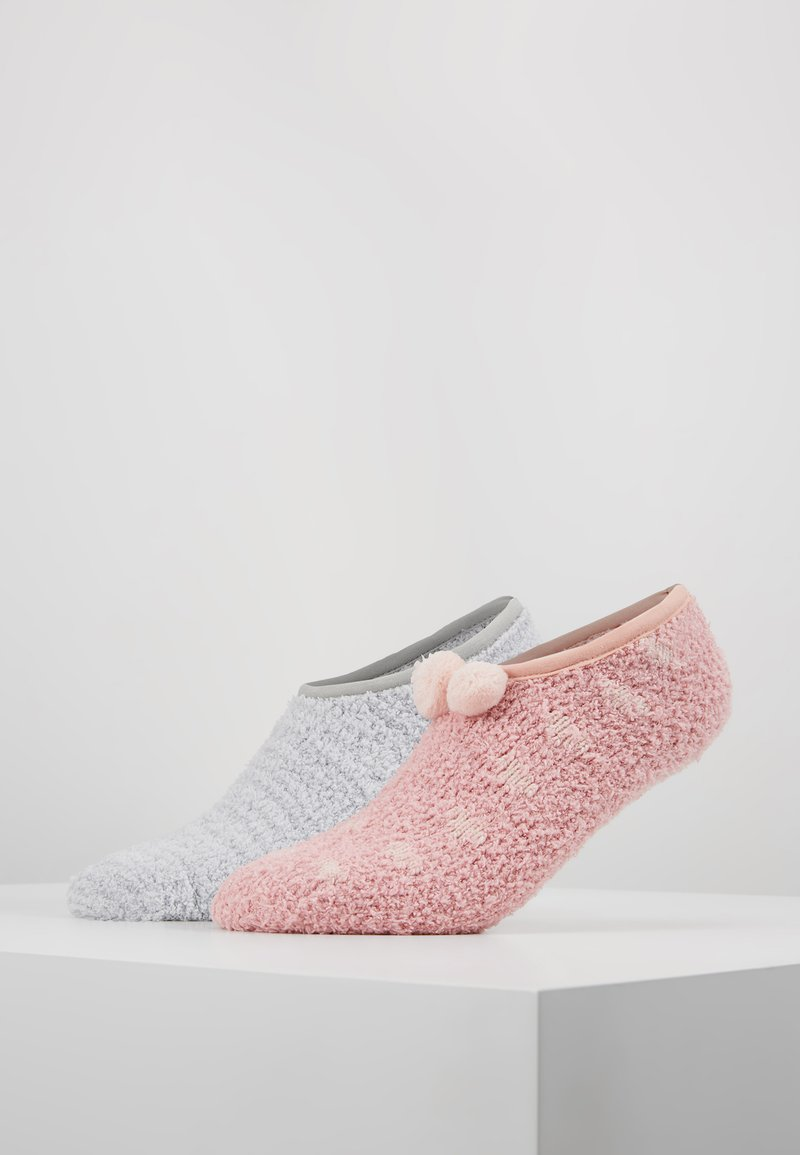 mint&berry - 2 PACK - Calze - grey/pink
