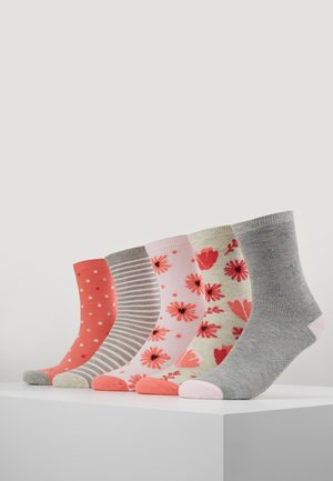 5 PACK - Chaussettes - grey/pink