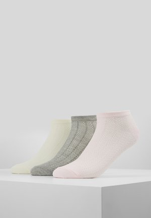 3 PACK - Chaussettes - white/pink