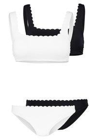 mint&berry - SET 2 PACK - Bikini - white/black - 0