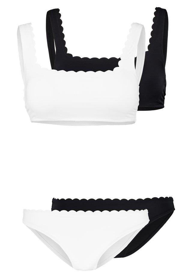 SET 2 PACK - Bikiny - white/black