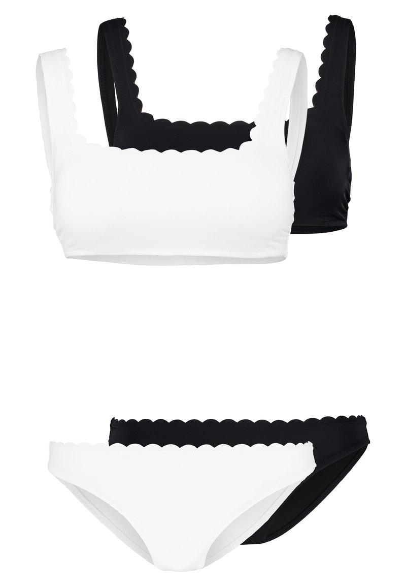 mint&berry - SET 2 PACK - Bikini - white/black