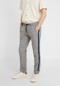 Mason's - TOSCANA JOGGER - Trousers - grey/blue - 0