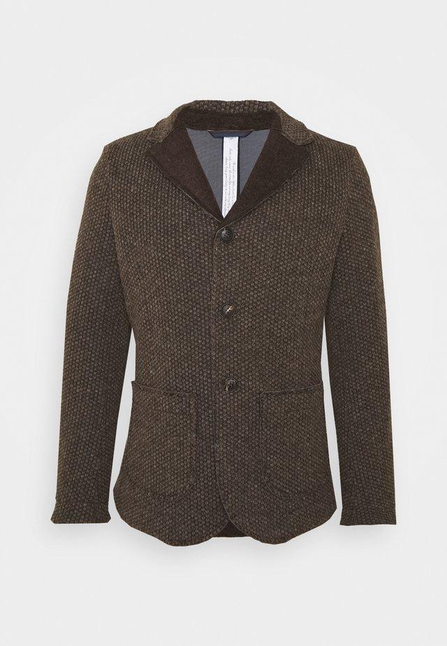 AURELIA - Blazer jacket - brown/beige