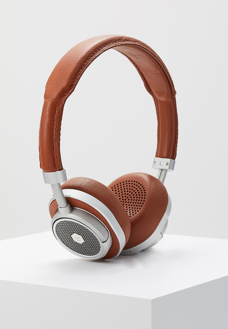 Master & Dynamic - MW50 WIRELESS ON-EAR - Headphones - brown/silver-coloured