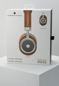 Master & Dynamic - MW50 WIRELESS ON-EAR - Headphones - brown/silver - 4
