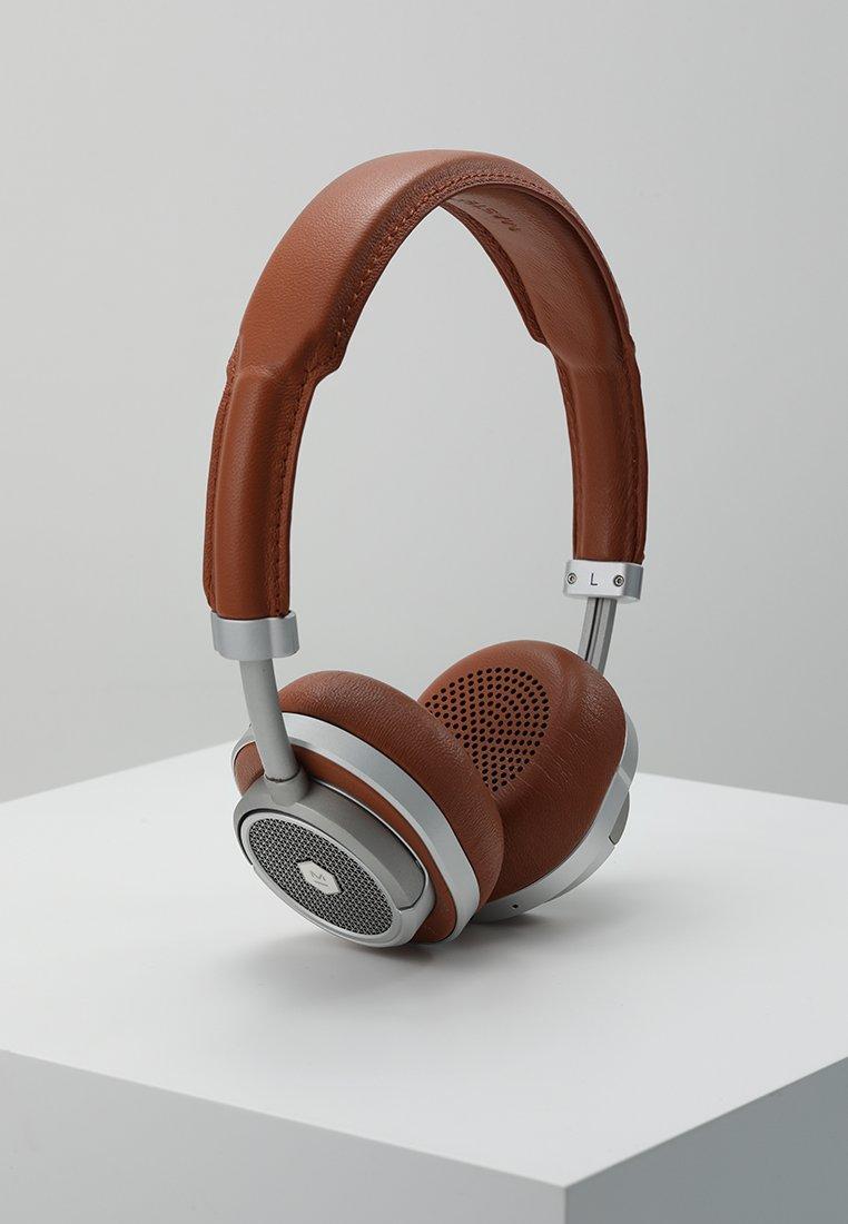 Master & Dynamic - MW50 WIRELESS ON-EAR - Headphones - brown/silver