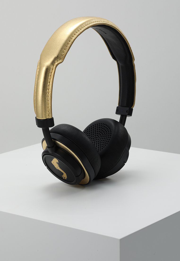 Master & Dynamic - MW50 WIRELESS ON-EAR - Auriculares - black / gold
