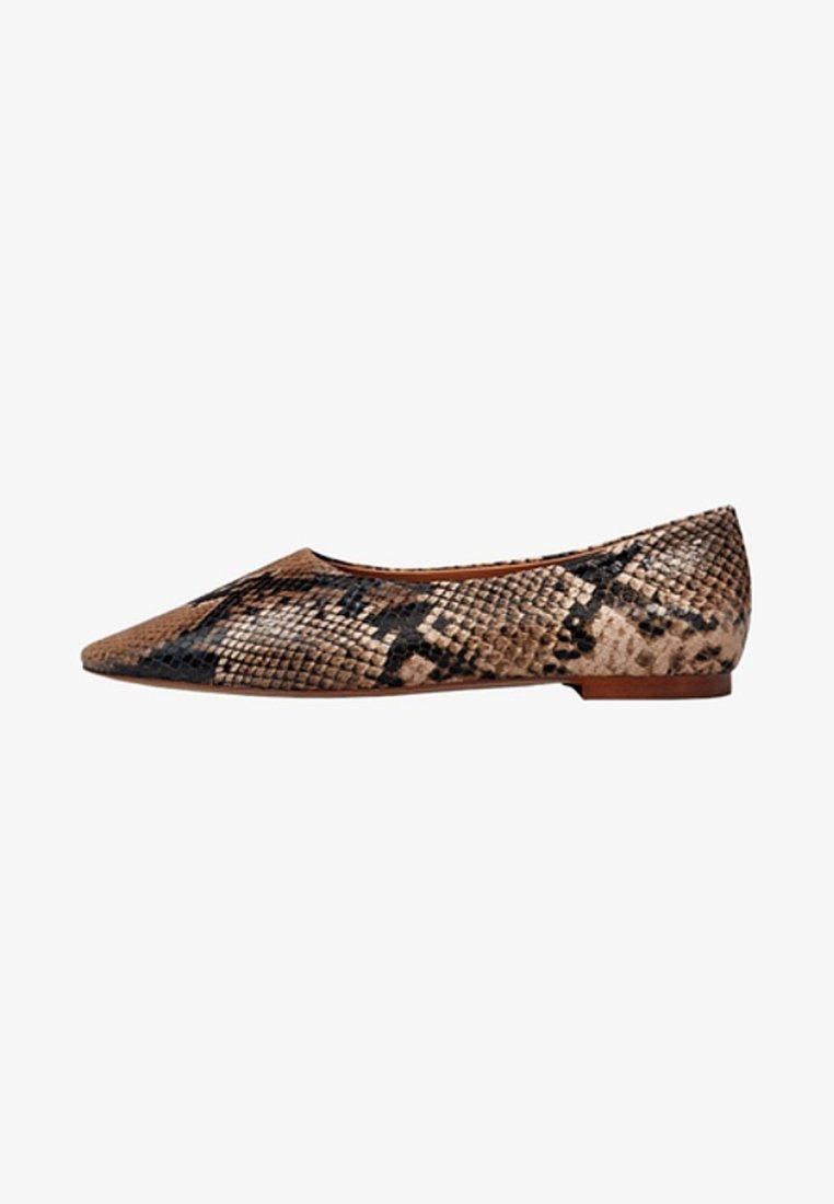 Massimo Dutti - MIT ANIMALPRINT - Ballet pumps - brown