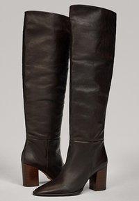 Massimo Dutti - MIT HOLZABSATZ  - Boots - brown - 3