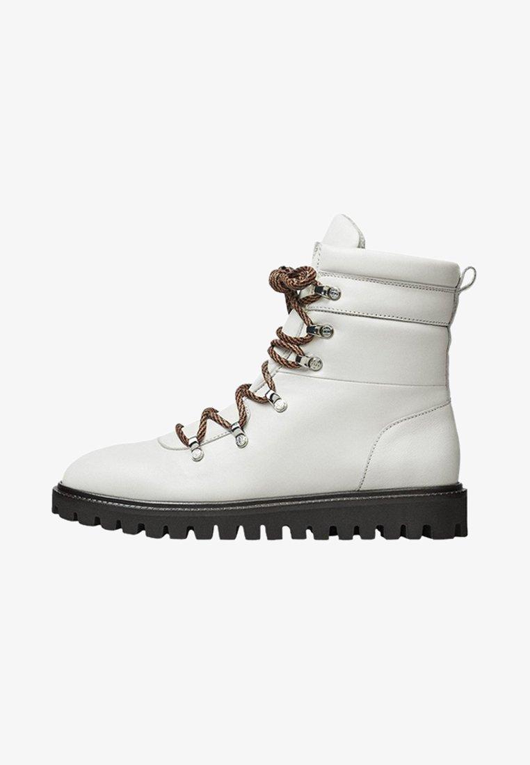 Massimo Dutti - APRES SKI COLLECTION - Snørestøvletter - white