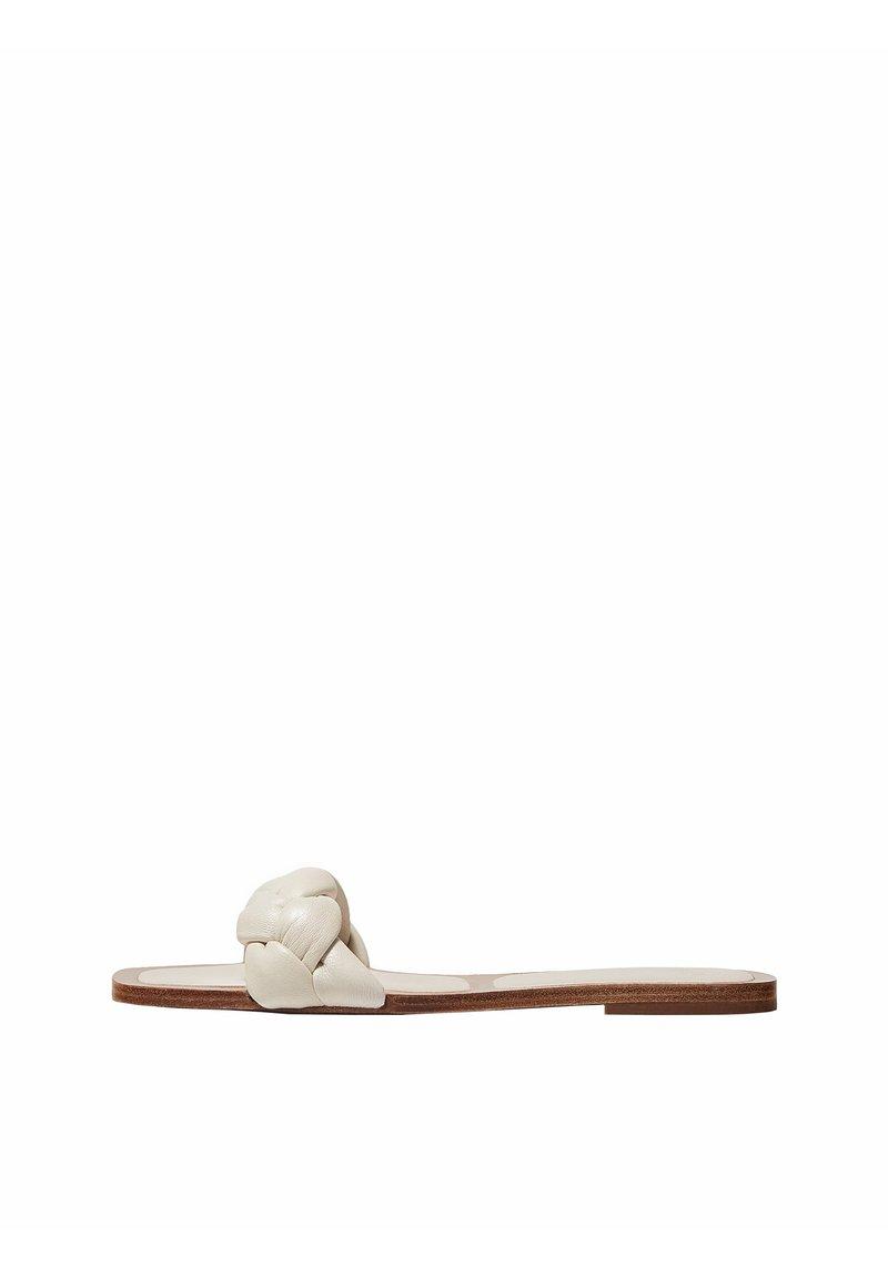 Massimo Dutti - MIT FLECHTRIEMCHEN - Mules - white