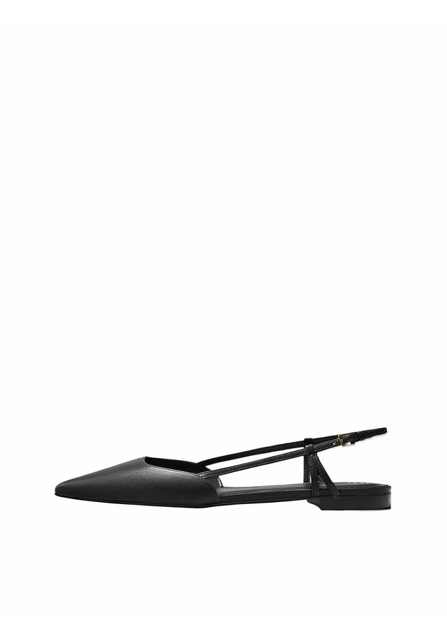 FLACHER SCHUHE MIT OFFENER FERSE UND SCHNALLE 11508550 - Slingback ballet pumps - black