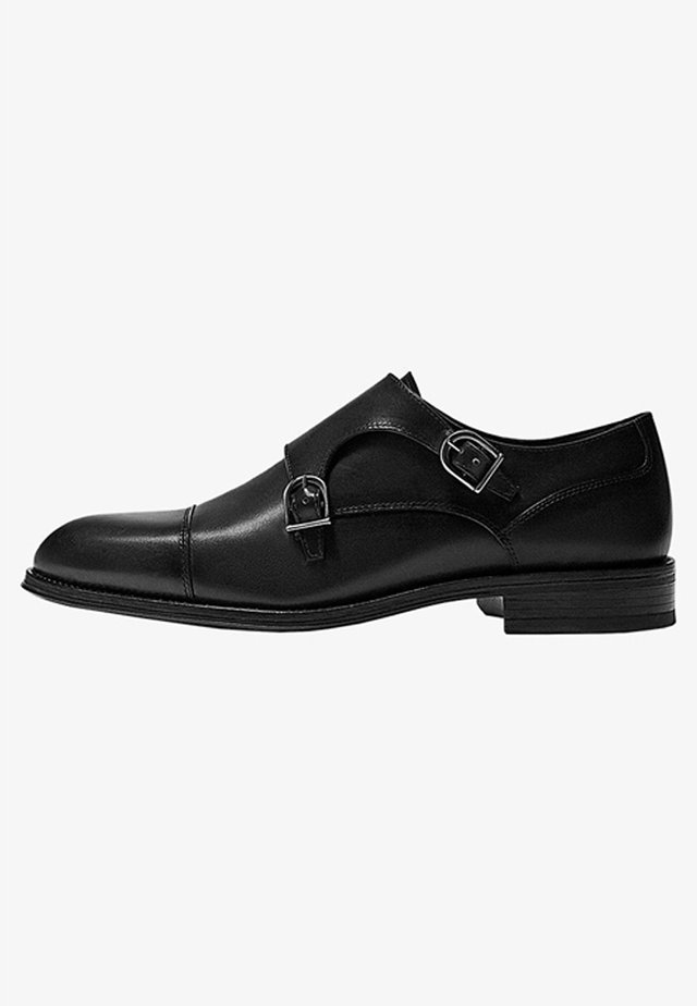 SCHWARZE MONK-SCHUHE 12250550 - Smart slip-ons - black