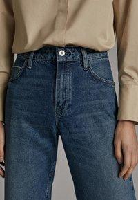 Massimo Dutti - WEITE HOSE MIT GÜRTEL 05039710 - Jeans baggy - dark blue - 6