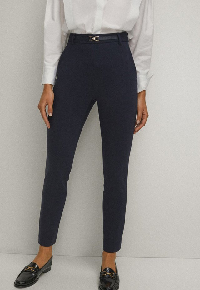 Trousers - blue-black denim