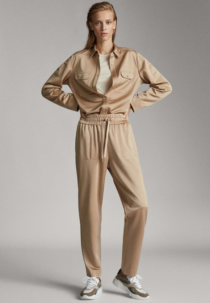Massimo Dutti - Tracksuit bottoms - beige
