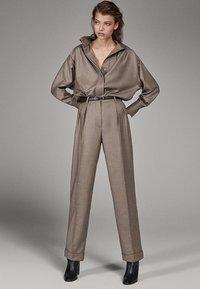 Massimo Dutti - CAMPAIGN COLLECTION - Pantalon classique - dark grey - 1