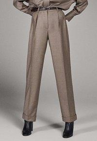 Massimo Dutti - CAMPAIGN COLLECTION - Pantalon classique - dark grey - 0