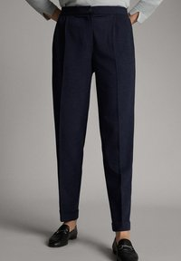 Massimo Dutti - Trousers - dark blue - 3