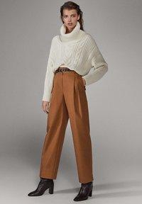 Massimo Dutti - LIMITED EDITION - Pantalon classique - brown - 0