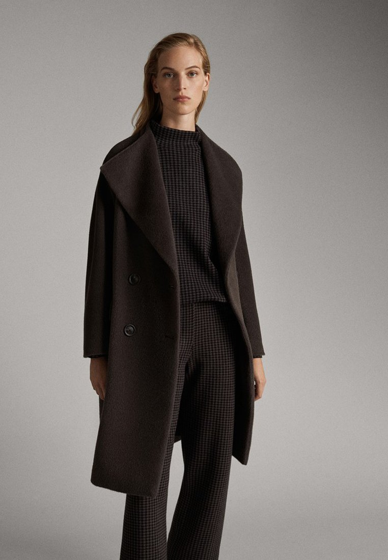 Massimo Dutti - Spodnie materiałowe - black