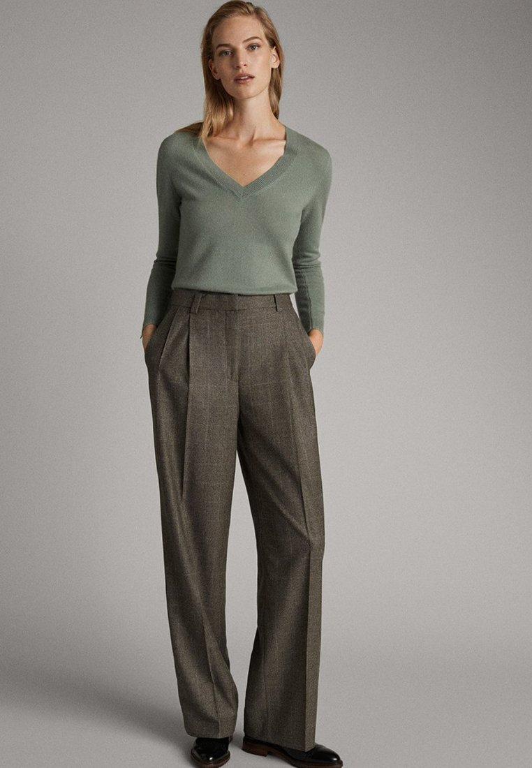 Massimo Dutti - Pantalon classique - olive
