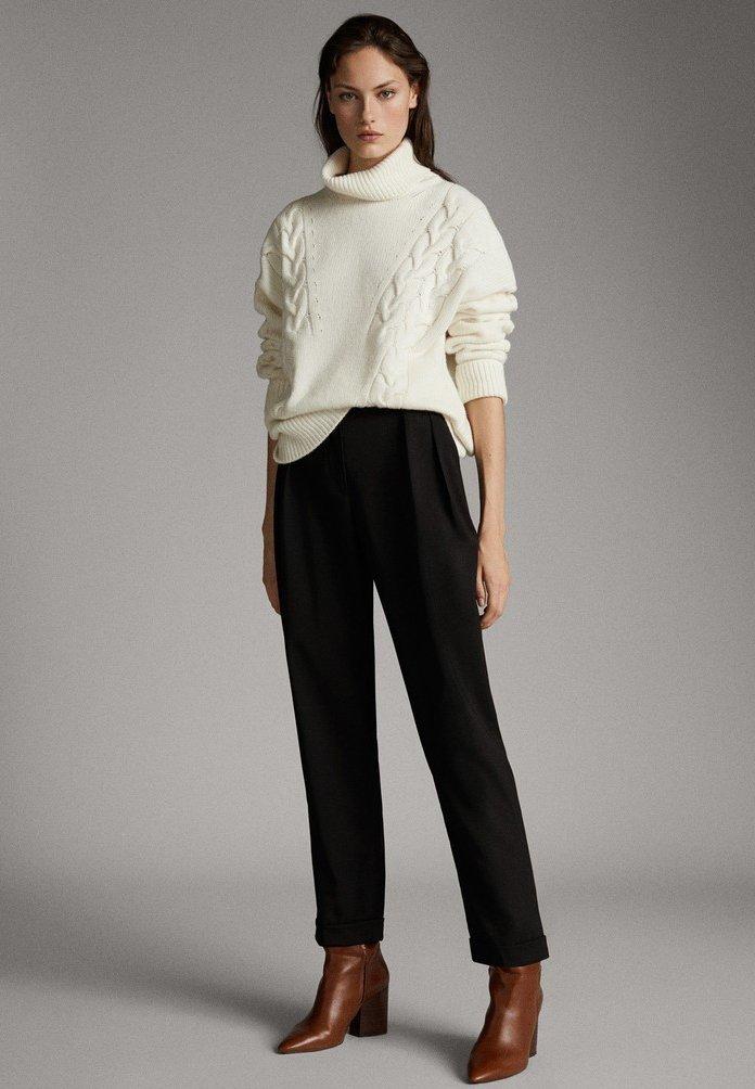 Massimo Dutti - Pantalon classique - black
