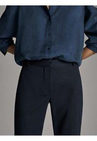 Massimo Dutti - Spodnie materiałowe - blue - 6