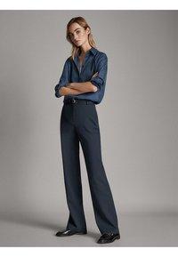 Massimo Dutti - Spodnie materiałowe - blue - 3