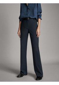 Massimo Dutti - Spodnie materiałowe - blue - 0